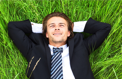 Glad mand - mindre stress