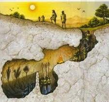 Fænomenernes- ideernes- og geniernes verden. befinder sig i billedet.